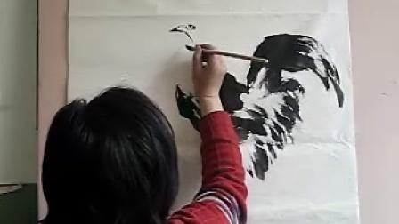 宋鲁民画公鸡