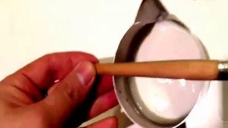 《技璞咖啡》基础咖啡拉花(树叶)布粉  牛奶打发