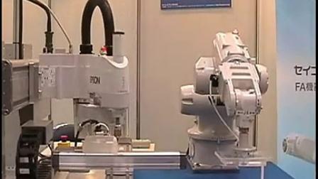 爱普生工业机器人(机械手)单控制器控制多台机器人视频