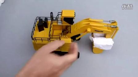 高清 小松PC3000反铲挖掘机视频操作表演