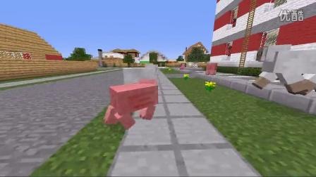 """[清明] 我的世界mod  当主角变成一只""""山羊猪""""mod展示youtube"""