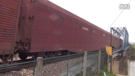 宣杭铁路ND5 0053牵引的货列 湖州市吴兴区杨家埠镇西苕溪大桥拍车 宣杭线