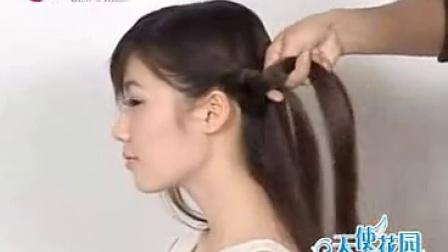 流行美盘发,斜庞克发型