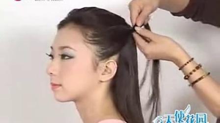 盘发发型视频,圆脸适合的发型