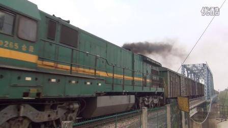 宣杭铁路X207次ND5喷烟 湖州市吴兴区杨家埠镇西苕溪大桥拍车 宣杭线