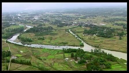 AA经典素材084-航拍成都平原 四川盆地 农田河流