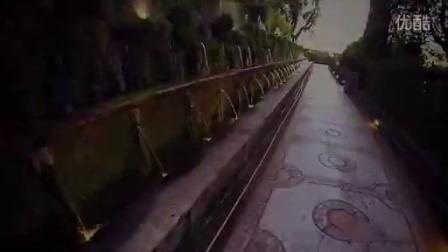 Villa D'Este a Tivoli ripresa con un drone