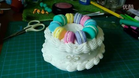 LeTao创意全手工超轻粘土蛋糕音乐盒