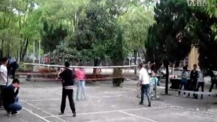 芷江师范羽毛球比赛男女混双半决赛 侯景 禹荣宁VS夏平 莫彤