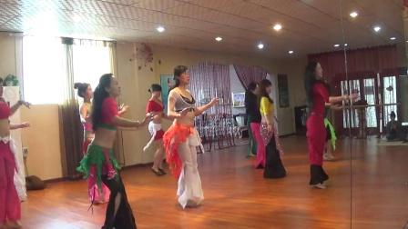 【飞舞之君】东方舞 热身+快乐埃及+鼓点西米热身练习20分钟练习