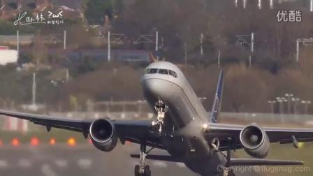 飞机侧风飞行    [ 惊险 ]    HD 720P