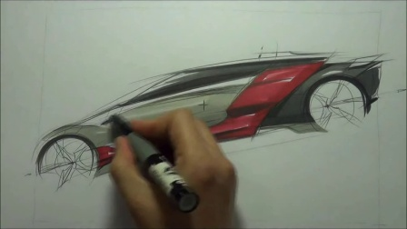 30 how to sketch car (sketch demonstration)
