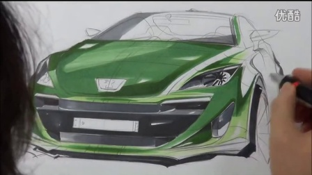 31 car drawing (peugeot 308 cc redesign)