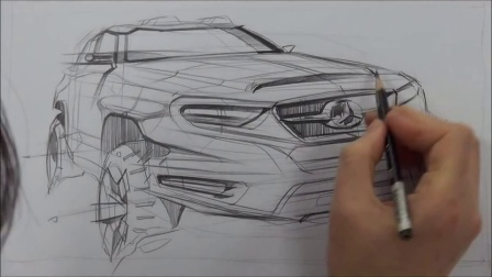 13 car design sketching