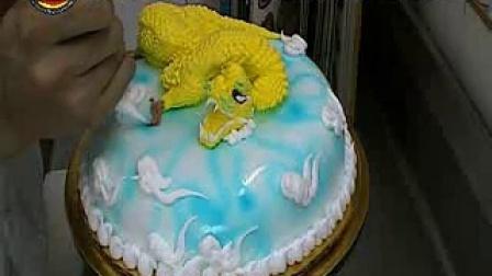 蛋糕制作视屏--刘科元艺术蛋糕仿真龙