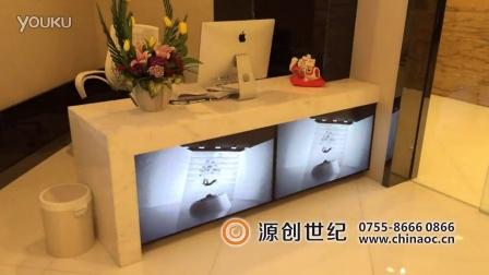 深圳源创世纪,前台LED拼接屏展示墙,商场高清液晶拼接产品展示墙