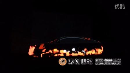深圳源创世纪,别克新车发布会,立体车身异型投影,汽车上市投影秀