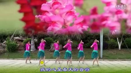 纯艺舞吧广场舞春天里的歌唱(正面演示...