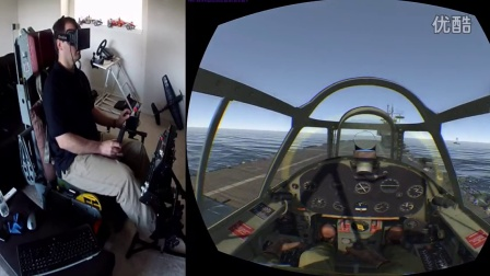 War Thunder in Native Oculus Rift Mode with Max Flight Stick