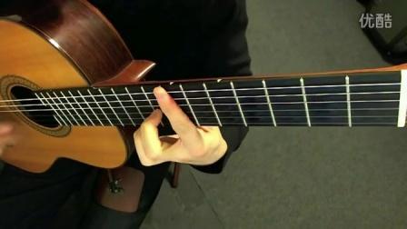 古典吉他《爱的罗曼史》清晰的指法演示,扒自youtube