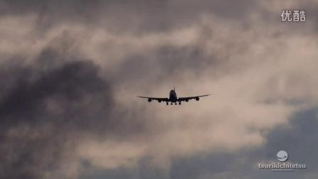 超絶・すごい旅客機の着陸動画 NCA B747-8F@成田空港RWY34L