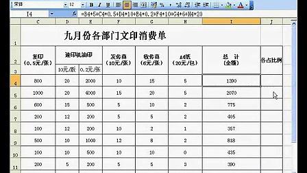 Excel2003高级使用技巧全套视频教程共53讲 02单元格的引用