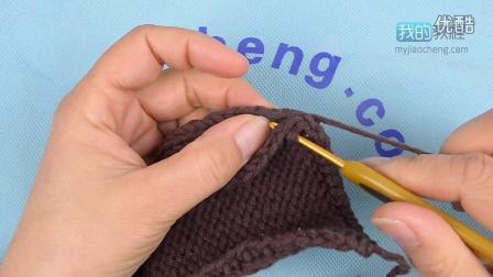 317引拔针缀缝(行与行的链接)编织实例
