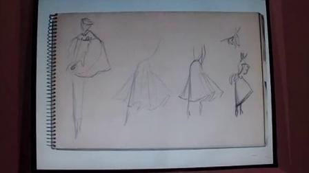 迪奥 Miss Dior 展览 2:一九四八秋冬高级订制系列草图手稿