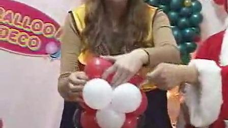 圣诞节气球装饰 diy免费长条气球视频 圣诞布置 圣诞老人1