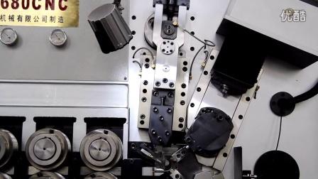 无凸轮压簧机六轴八毫米摆切视频