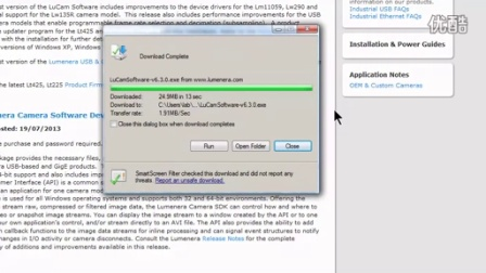 Installing Lumenera LuCam Capture on Windows
