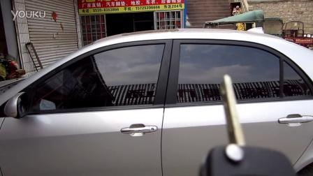 吉利全球鹰GC7安装关窗器自动升窗器,原车遥控同升同降 效果视频