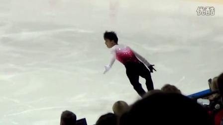 【羽生结弦】121006 芬兰杯 自由滑《巴黎圣母院》趴地和躺倒2