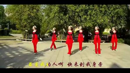 广场舞火火的姑娘 廖弟广场舞 广场舞教学【超清】20140712
