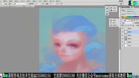 游戏角色原画设计教程手绘板教程03-女性头像设计实战