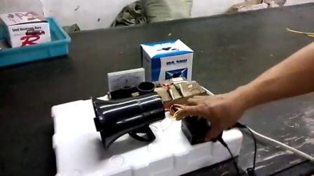 包邮12v 30w喇叭警报器三音警笛喇叭带喊话 警笛带喊话器 特价