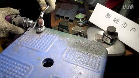 手工冷弯弹弓 打磨抛光视频 440C冷弯弹弓