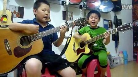 鄂州 七和弦 吉他部落 吉他 小学员 弹唱《怒放的生命》