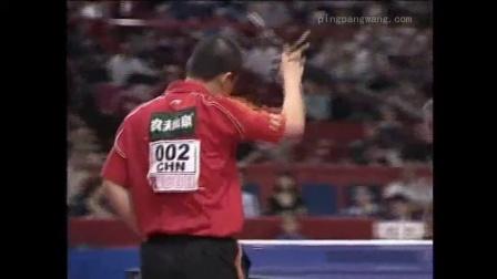 2003年巴黎世乒赛男单八分之一决赛马琳对战哈坎松[剪辑]