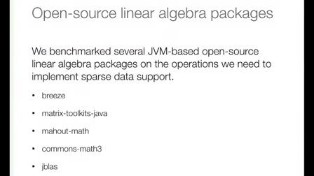 Sparse data support in MLlib - Xiangrui Meng (Databricks)