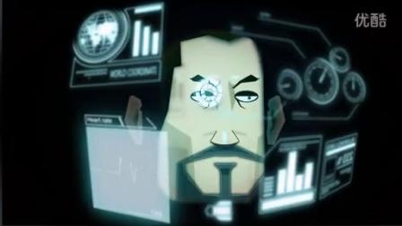 AE制作动画版钢铁侠内部全息影像