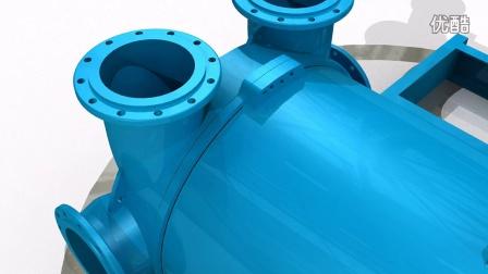 2BE系列水环式真空泵的内部结构-分解视频