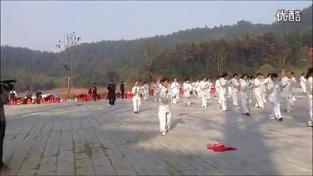 阁皂山上260多人演练24式太极拳 樟树太极协会应邀参加活动
