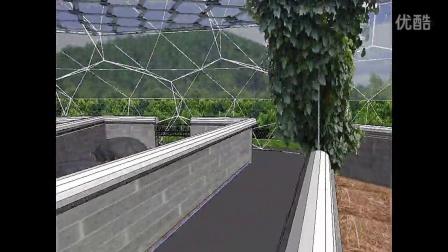 530平方米鸟巢温室型生态猪圈设计