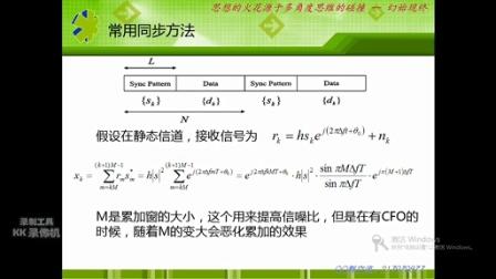 OFDM通信系统 时间同步与频率同步算法(上)