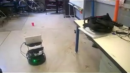 turtlebot tip a red cup