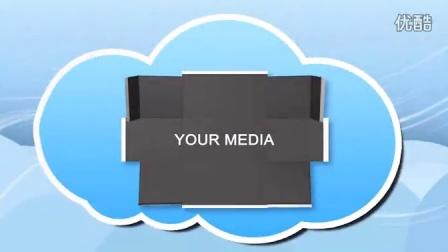 2598[素材TV] 卡通云层图片展示高清AE模板