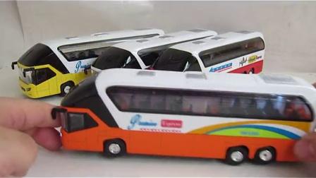 蒂雅多豪华版公交车客车巴士模型回力车模
