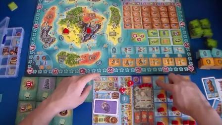 波拉波拉岛 bora bora 香蕉桌游 教学视频 第52期