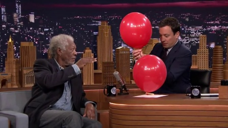 Morgan Freeman Chats with Jimmy While Sucking Helium (1)